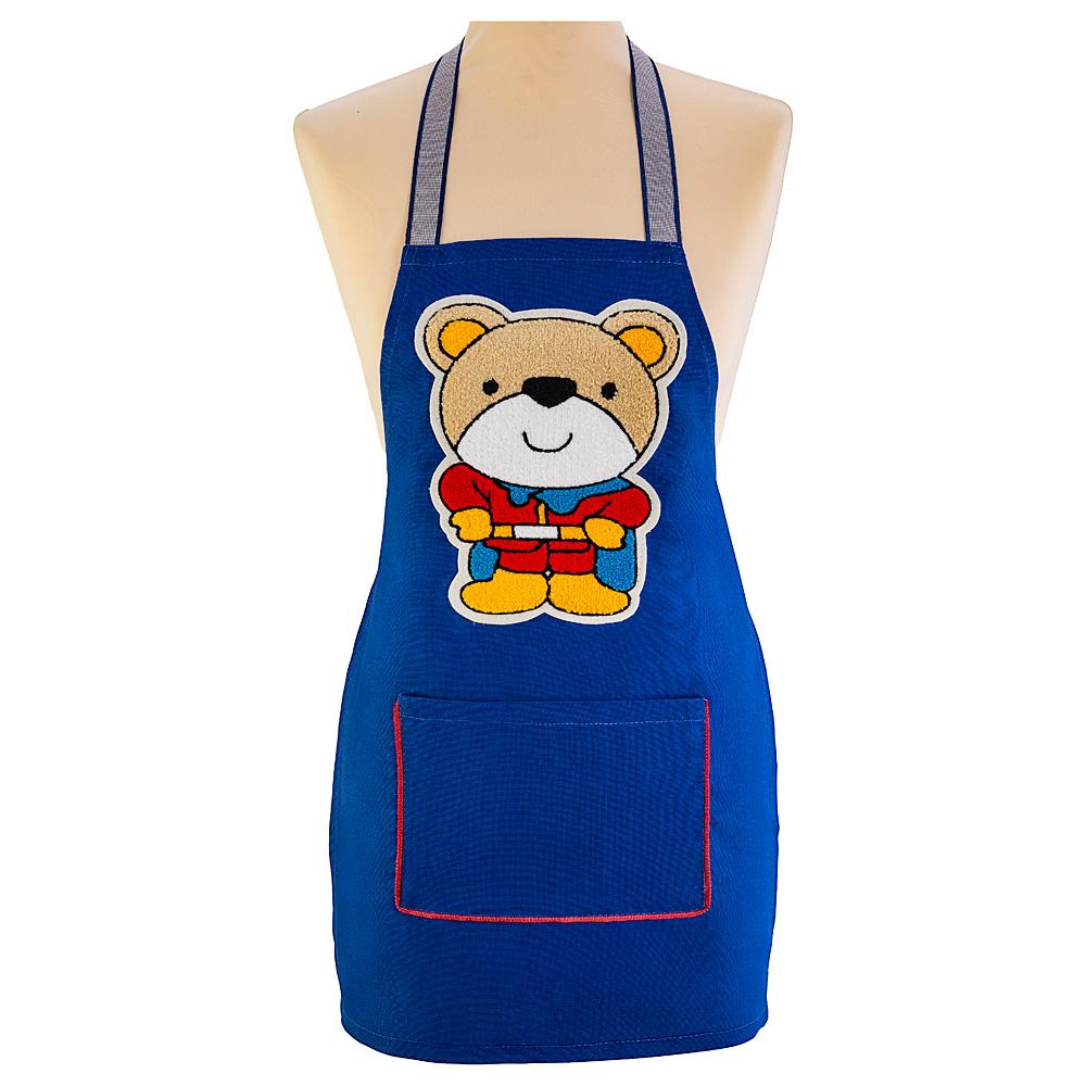 Фартук 850-604-55 маленький декоративный супермен ,синий
