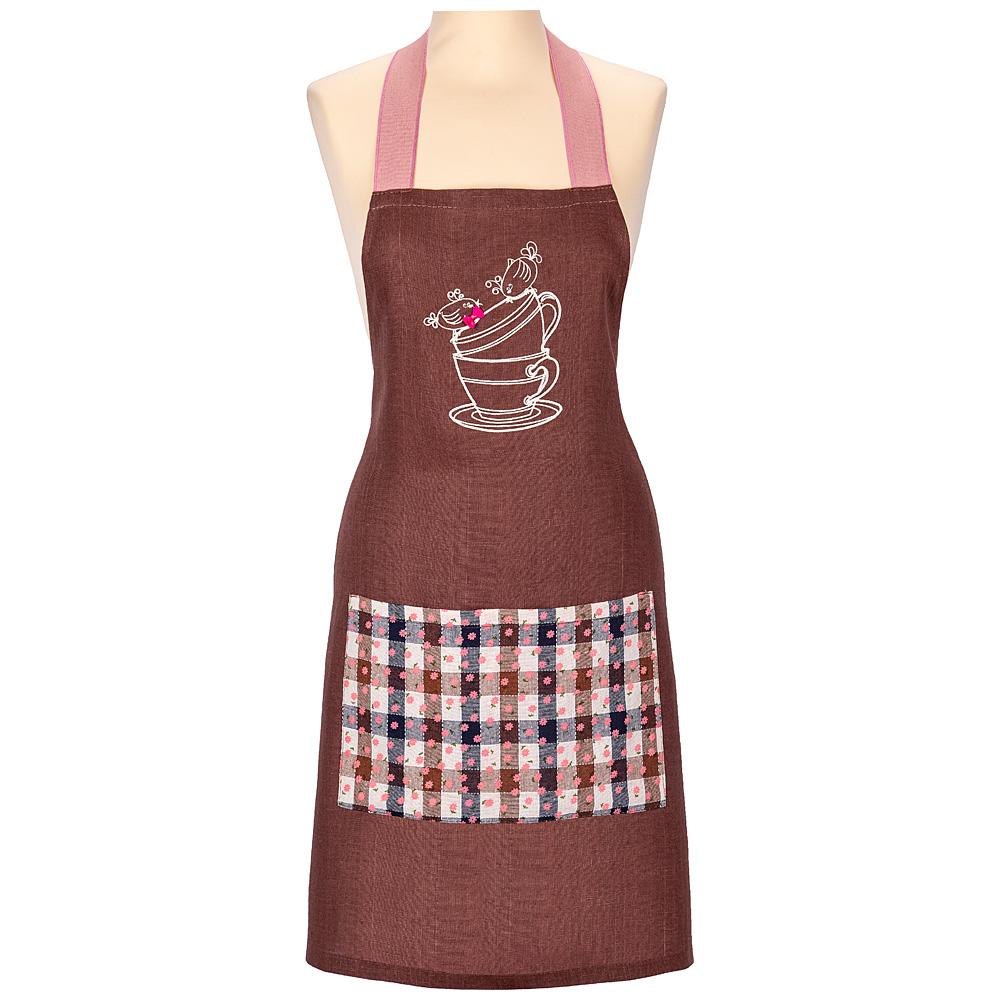 Фартук 850-605-1 чаепитие, коричневый