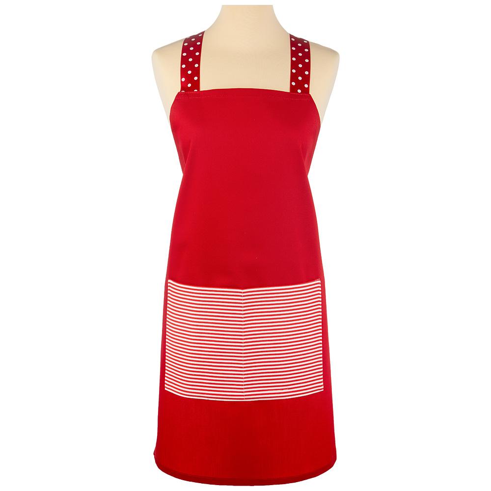 Фартук 850-605-29 кокетка, красный