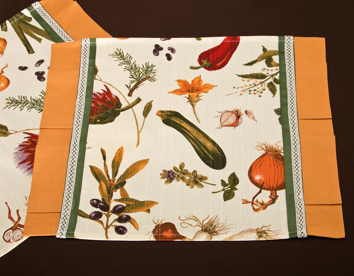Комплект салфеток-плейсметов 850-806-4 33*47 см 2 шт, овощной букет
