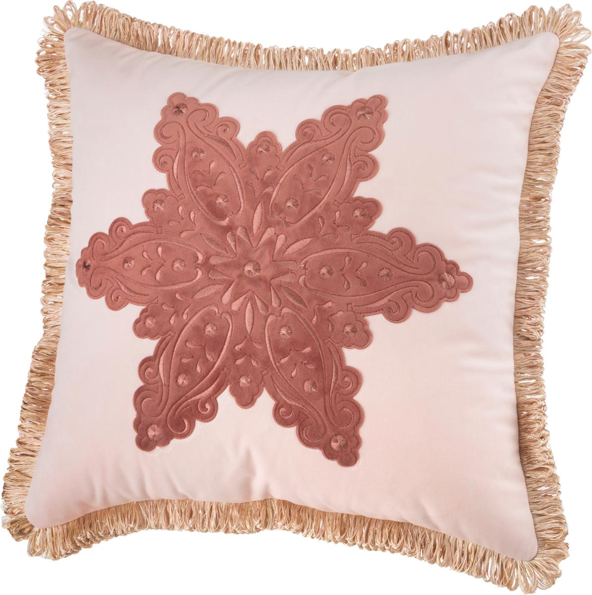 Декоративная подушка 850-817-05 снежинка пудровая 46*46 см