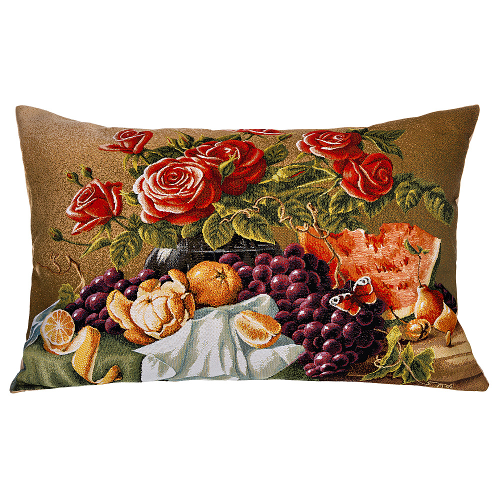 Подушка 850-902-13 45*63 см натюрморт с розами гобелен