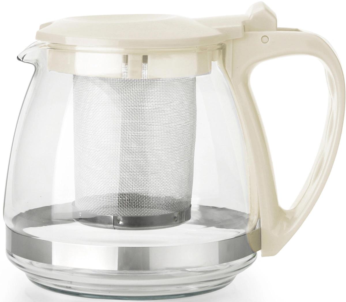 Чайник заварочный F8070 с фильтром 0,7 л бежевый Appetite