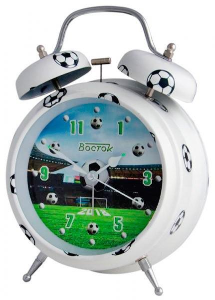 FB-18 Футбол Будильник эл.механический Восток (47239)