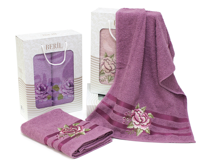 Комплект полотенец с вышивкой (50x90, 70x140) 1573 Beril DF
