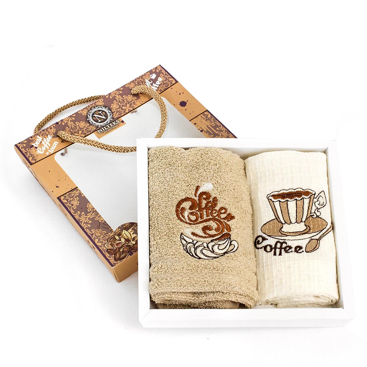 Комплект полотенец (30x50 2шт) Fruts Series кофе Nilteks
