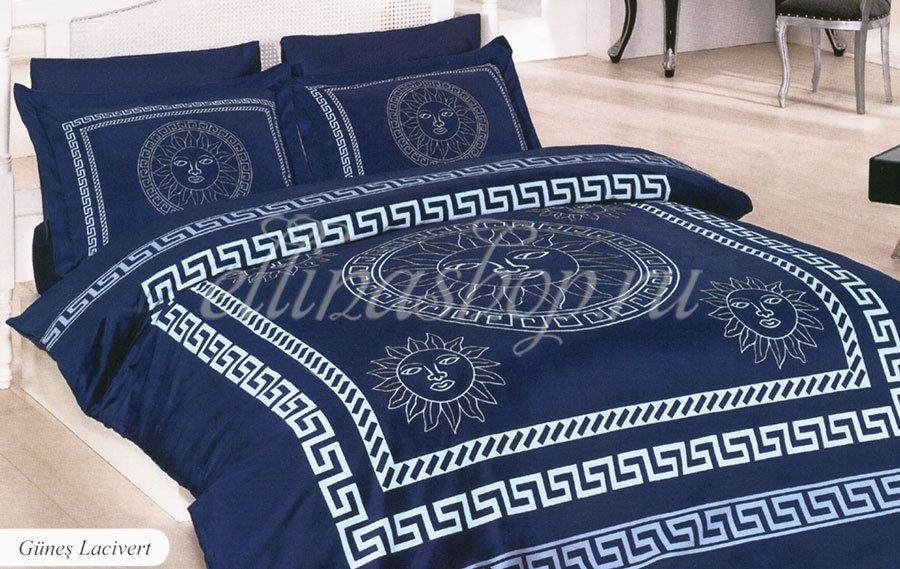 Gunes темно-синий постельное белье из бамбука Karven