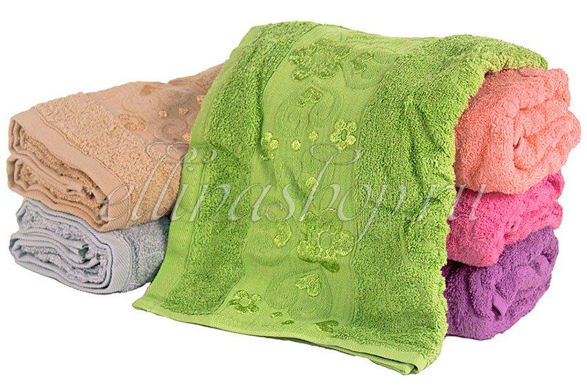 Сердце махровое хлопковое полотенце Karven