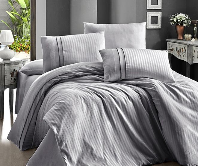 Постельное белье из сатина Stripe Style K. Gri Karven