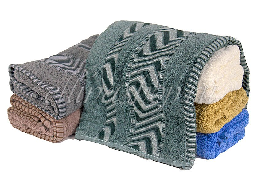 Зигзаг 2 махровое хлопковое полотенце Karven