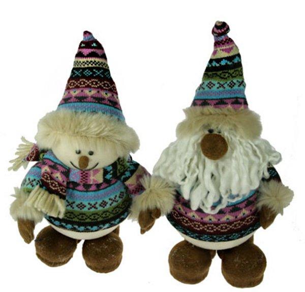 Дед Мороз и Снеговик сиреневый костюм с мехом, 16382 (51812)