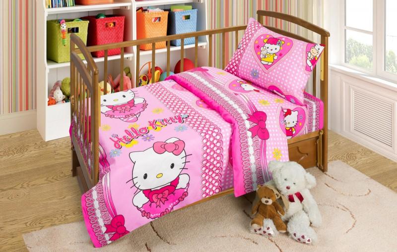 Постельное белье в кроватку из бязи Бантики Артпостель