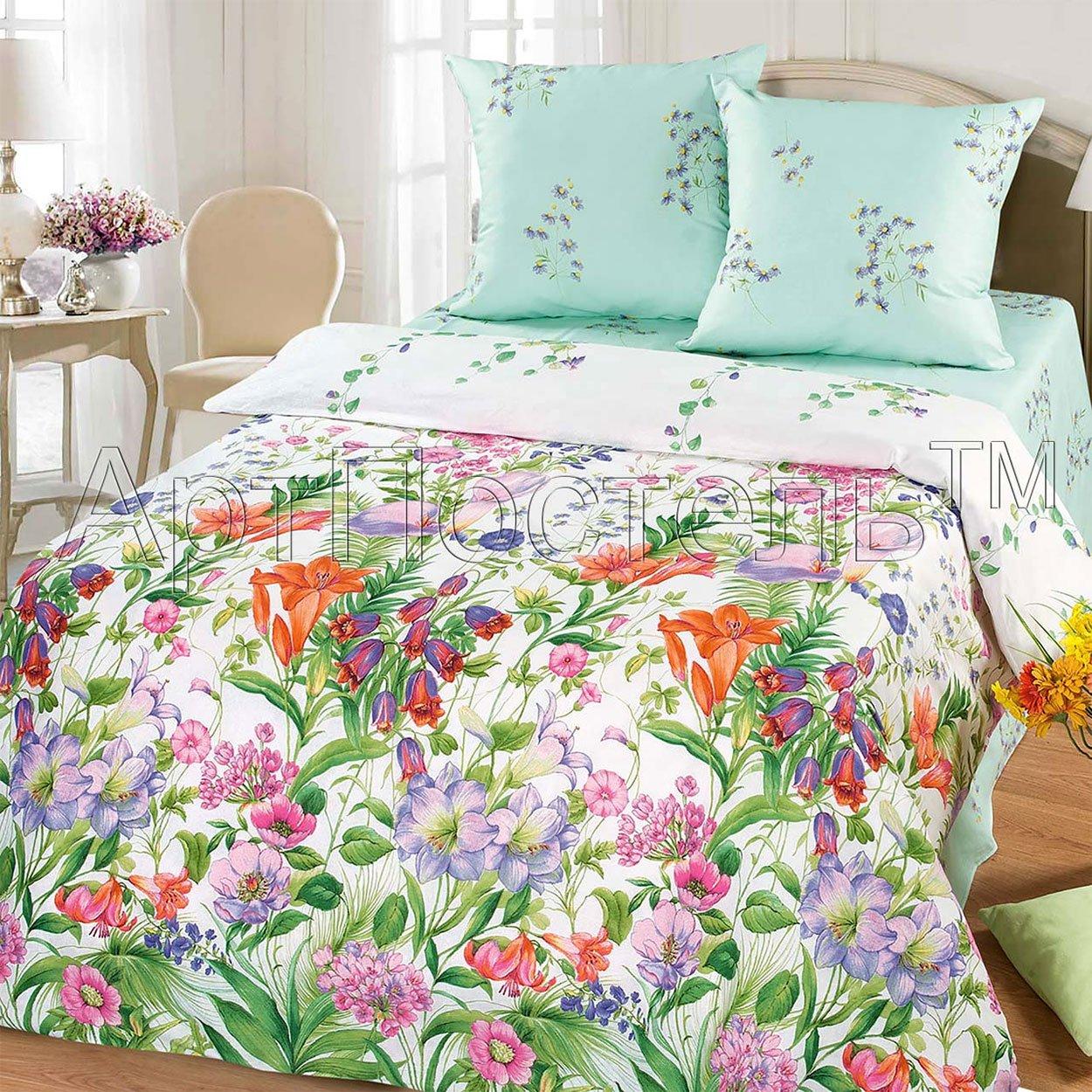 Цветочная фантазия постельное белье из бязи Артпостель