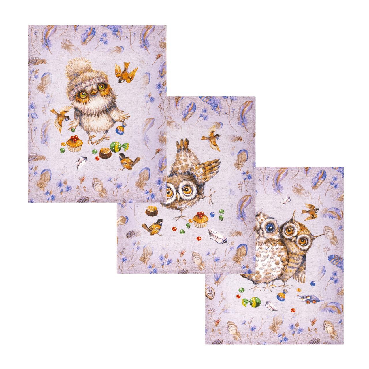 Комплект вафельных полотенец 45x60 (3 шт) Сладкий Я Артпостель