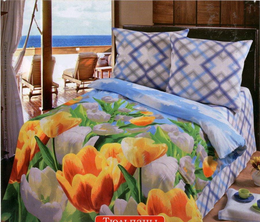Тюльпаны постельное белье из бязи