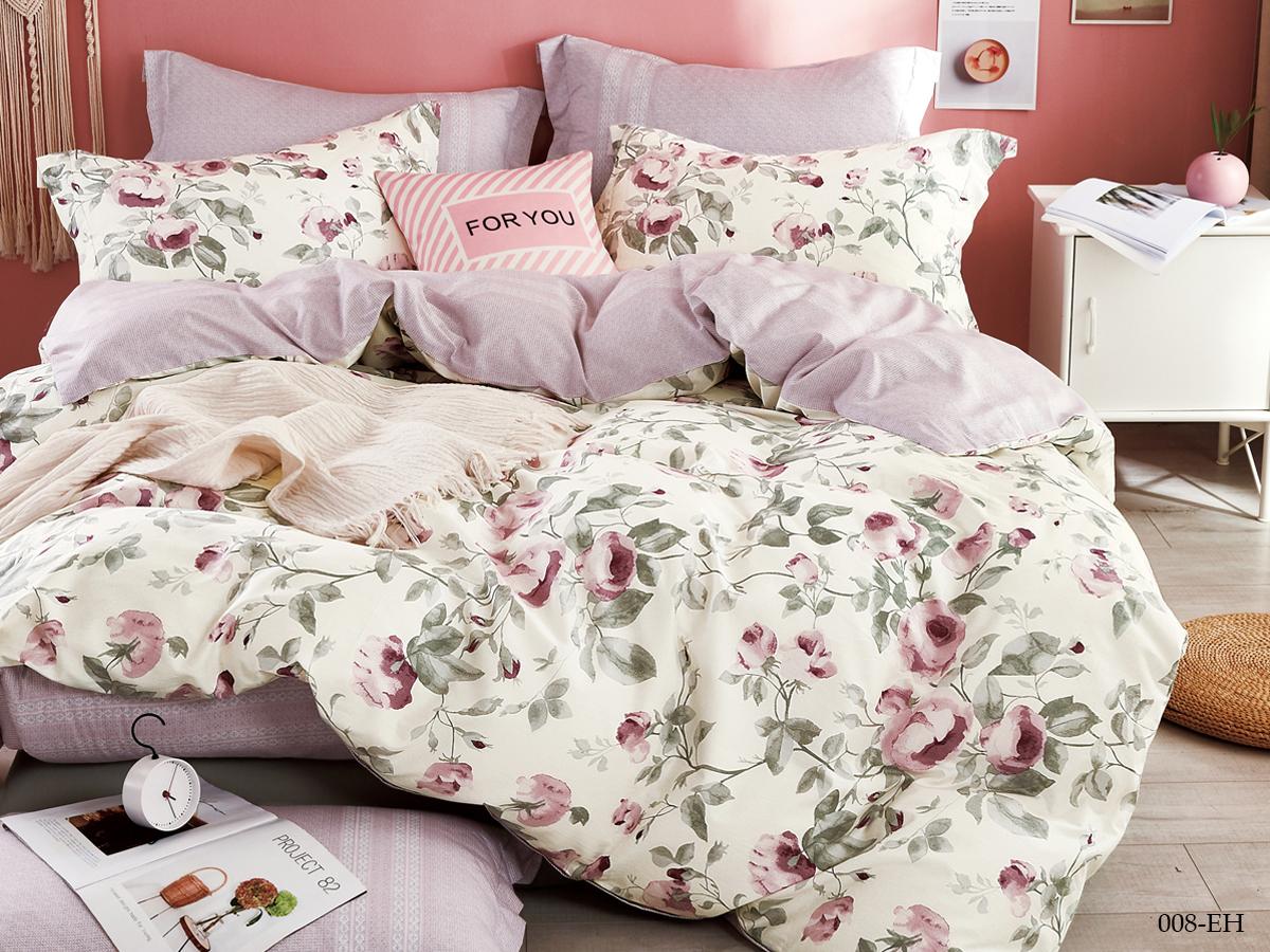 Сатиновый комплект постельного белья Perfecto 008-EH Cleo