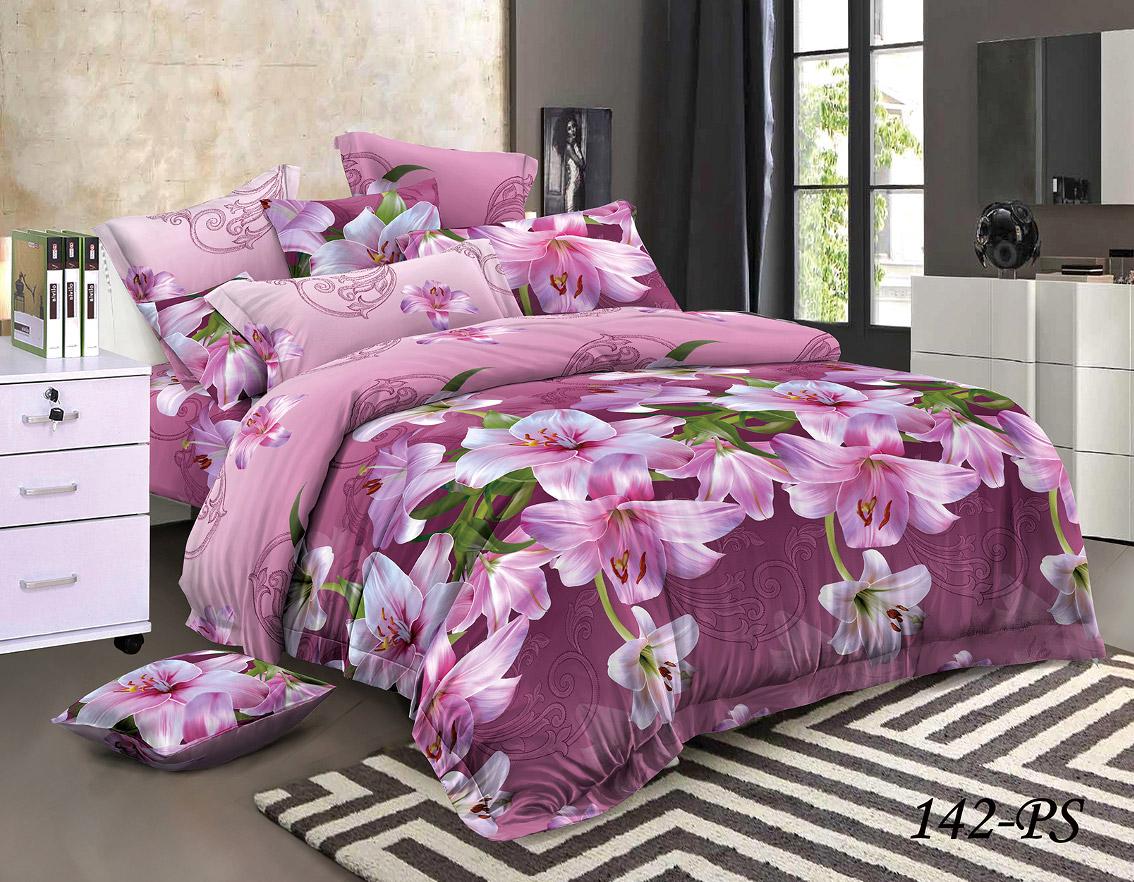 Комплект постельного белья из полисатина 142-PS Cleo