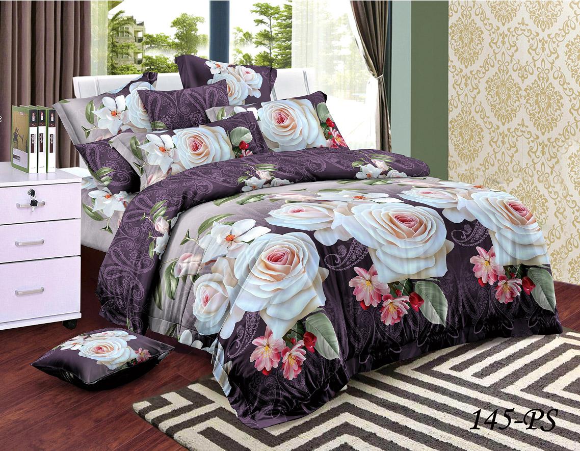 Комплект постельного белья из полисатина 145-PS Cleo
