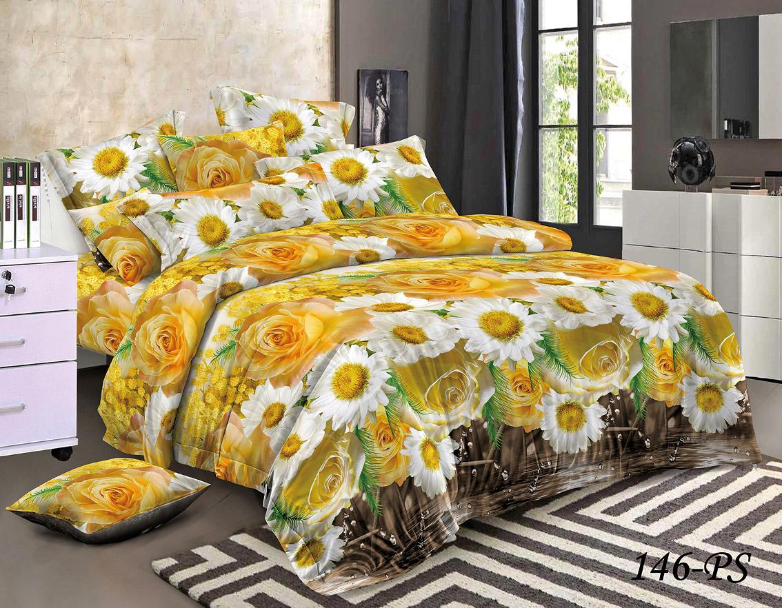 Комплект постельного белья из полисатина 146-PS Cleo
