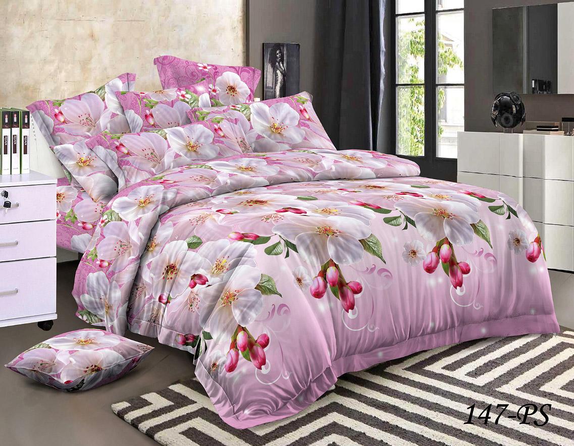 Комплект постельного белья из полисатина 147-PS Cleo