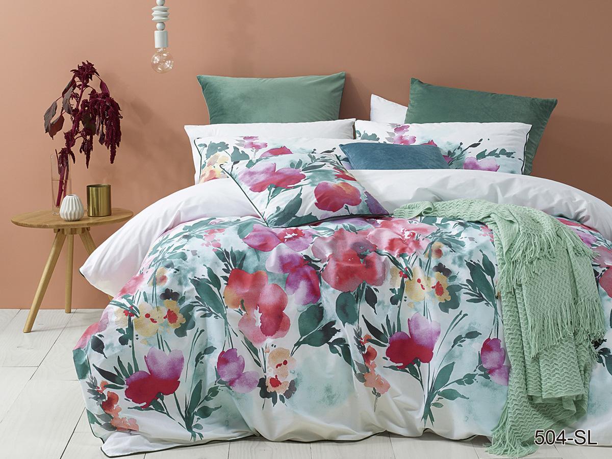 Сатиновый комплект постельного белья 504-SL Cleo