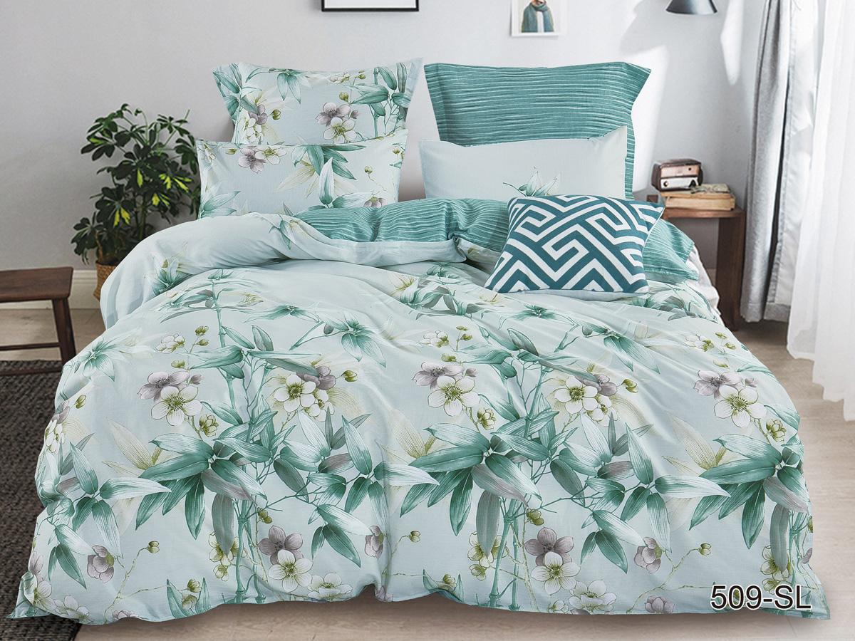 Сатиновый комплект постельного белья 509-SL Cleo