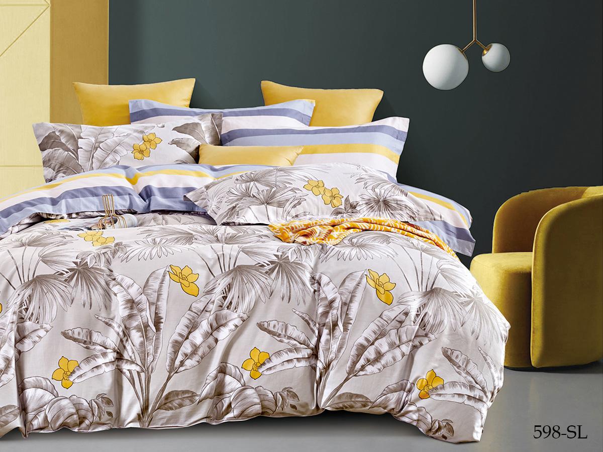 Сатиновый комплект постельного белья 598-SL Cleo