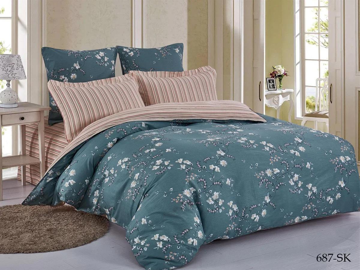 Комплект постельного белья из сатина 687-SK Cleo