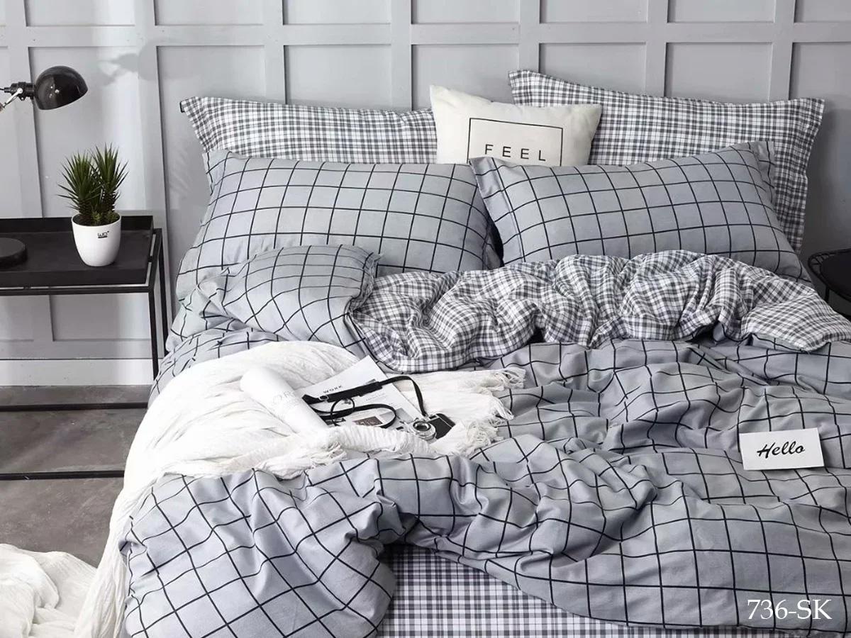 Сатиновый комплект постельного белья 736-SK Cleo