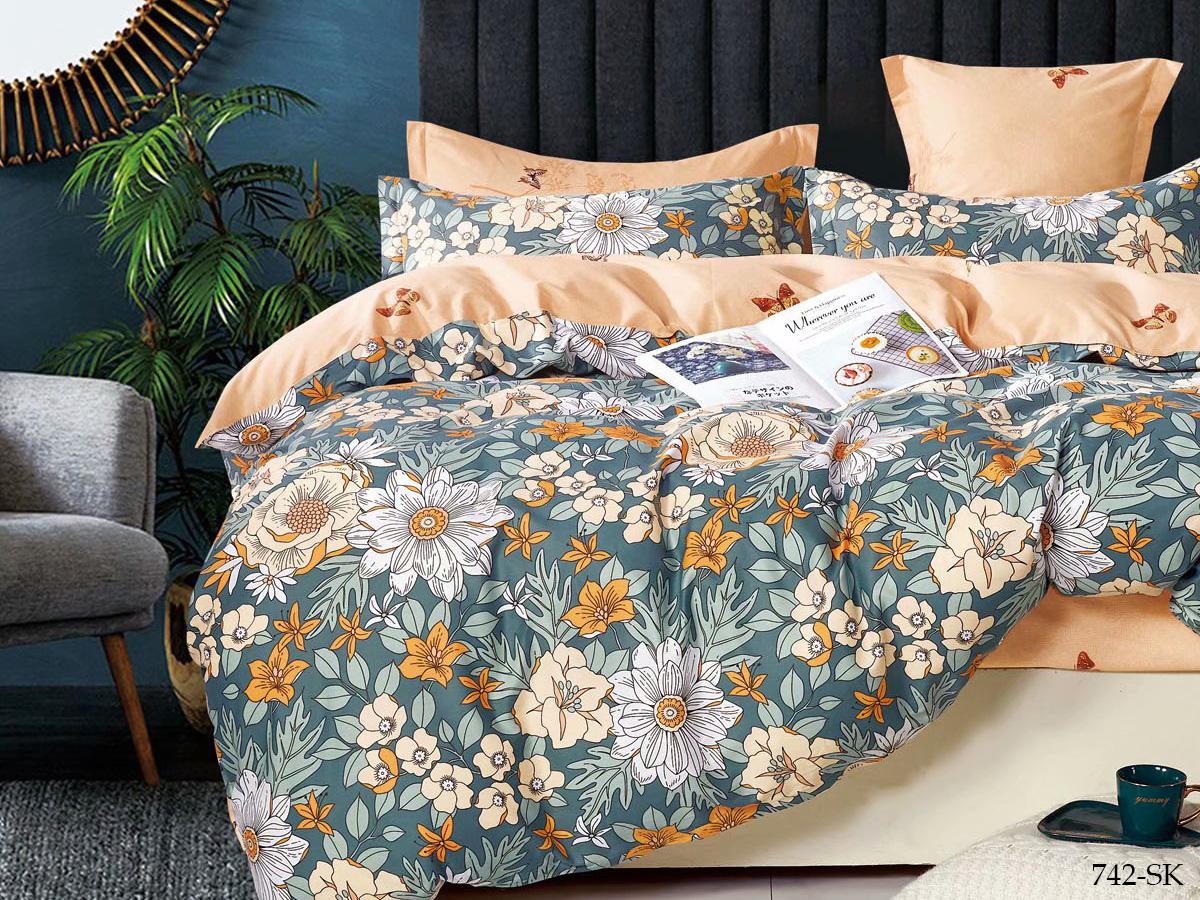 Сатиновый комплект постельного белья 742-SK Cleo