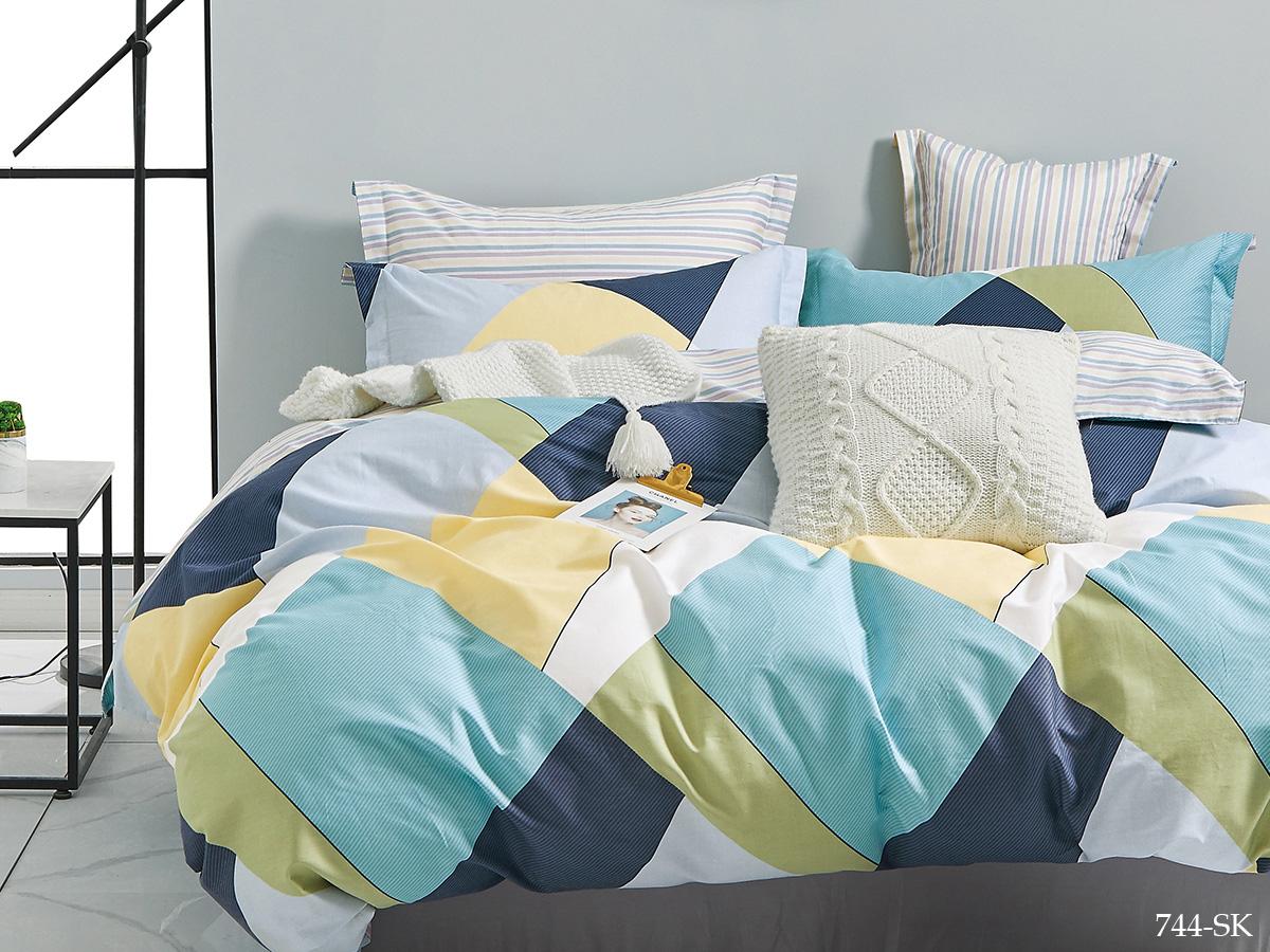 Сатиновый комплект постельного белья 744-SK Cleo