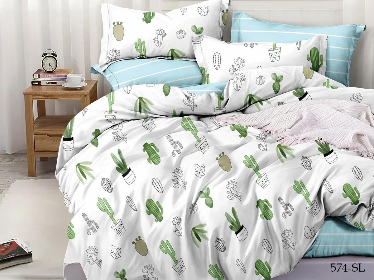 Сатиновое постельное белье 574-SL Cleo