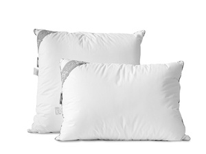 Пуховая подушка Пух comfort 001-DS, высокая Cleo