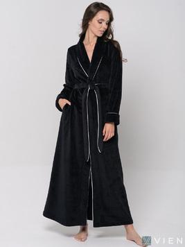 Халат из бамбука 1091 Elegance Line черный Five Wien