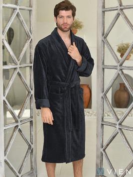 Длинный халат из бамбука 1097 Lord антрацит Five wien