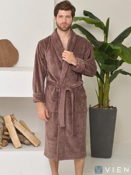 Длинный халат из бамбука 1097 Lord мокко Five wien