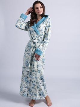 Халат с капюшоном 1111 Rosaline голубой Wien