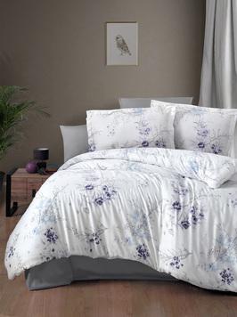 Комплект сатинового постельного белья 11479 Leena лиловый Doco