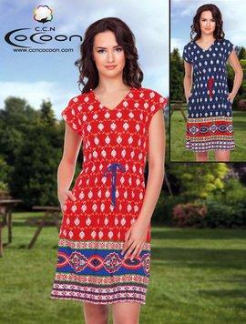 59e8596d69b Платье трикотажное 12260 Орнамент Cocoon рис.