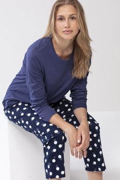 Трикотажная пижама (кофта, брюки) 13004 Yule синий Mey