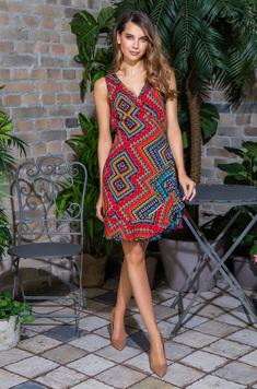 Платье 16430 Jana красный Mia-Mia
