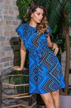 Платье женское из вискозы 16431 Jana голубой Mia-Mia