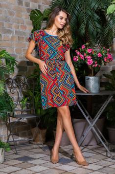 Вискозное платье 16431 Jana красный Mia-Mia