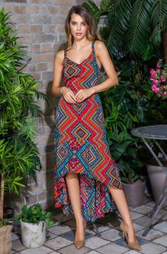 Вискозное платье 16436 Jana красный Mia-Mia