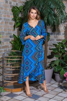 Платье длинное 16437 Jana голубой Mia-Mia