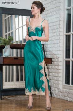 Длинная шелковая сорочка 3444 Мэрэлин Делюкс Mia Amore