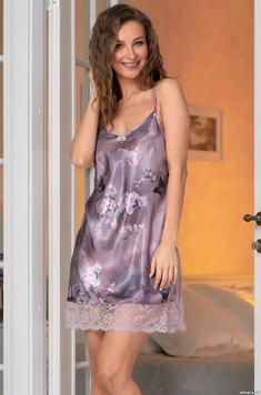Шелковая сорочка с кружевом 3650 Aurora Mia Amore