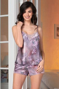 Пижама из шелка (топ, шорты) 3652 Aurora Mia Amore