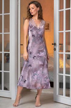 Шелковая длинная сорочка 3658 Aurora Mia Amore