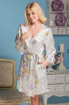 Шелковый халат 5993 Лилианна Mia Amore